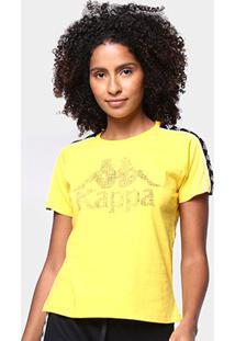 Camiseta Kappa Authentic Feminina - Feminino-Amarelo