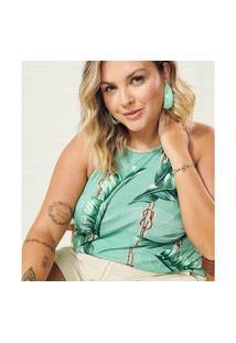 Blusa Secret Glam Blusa Feminina Plus Size Frente Única Secret Glam Verde Verde