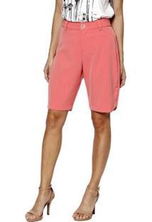 Bermuda Energia Fashion Feminina - Feminino-Coral