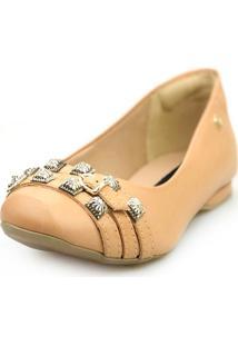 Sapatilha Love Shoes Bico Quadrado Confort Tiras Aplique - Kanui