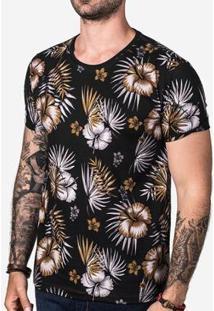 Camiseta Hermoso Compadre Tropical Masculina - Masculino-Preto