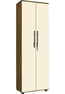 Armário Multiuso 2 Portas E 5 Prateleiras Cordoba-Móveis Primus - Mel / Perola