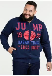 Casaco Masculino Moletom Estampado Plus Size Águia Tex