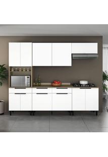 Cozinha Compacta Itamaxi 11 Pt 3 Gv Branca E Castanho