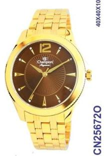 Relógio Champion Feminino- Cn25672O - Feminino-Dourado