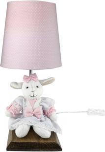 Abajur Toys Escuro Ovelha Rosa Quarto Bebê Infantil Menina