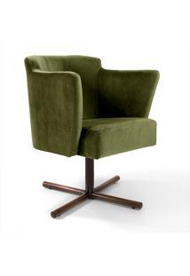 Poltrona Decorativa Veludo Lara -Combinare - Verde
