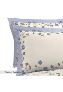 Fronha Visione Mabele- Off White & Azul- 70X50Cmbuettner
