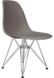 Cadeira Sem Braço Pp Base Cromada Eiffel -Rivatti - Cinza