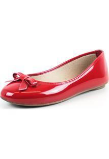 Sapatilha Tag Shoes Verniz Laço Vermelho