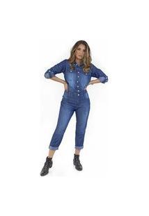 Macacão Longo Jeans Ecolife