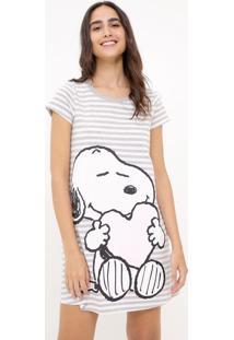 Camisola Manga Curta Estampada Snoopy