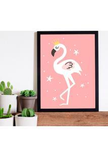Quadro Decorativo Infantil Flamingo