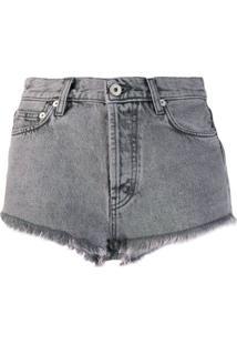Heron Preston Bermuda Jeans Com Efeito Desbotado - Azul