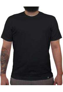 Camiseta Clássica Masculina Lisa Preta