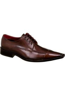 Sapato Social Couro Malbork Masculino - Masculino-Café