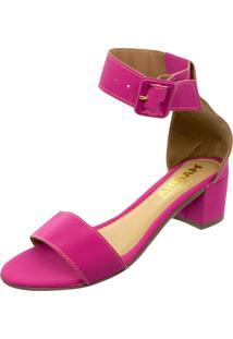Sandalia Mariha Calçados Maxi Fivela Pink - Kanui