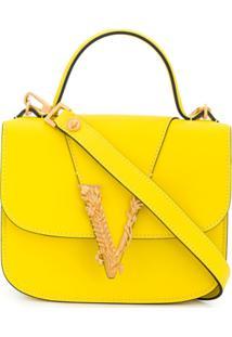 Versace Bolsa Tiracolo Virtus - Amarelo