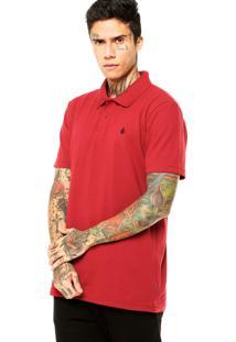 Camisa Polo Volcom Solid Vermelha