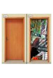 Adesivo Decorativo De Porta - Cidade - Nova Iorque - 958Cnpt
