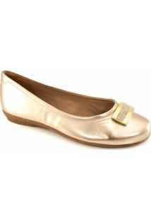 Sapatilha Strass Numeração Especial Sapato Show - Feminino-Ouro