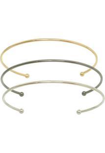 Kit De Braceletes- Dourado & Prateado- Tamanho 16Carolina Alcaide