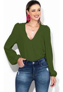 Blusa De Viscose Verde