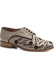 Oxford Shoestock Linho Bordado Feminino