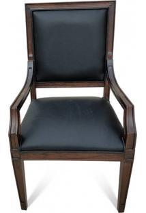 Cadeira Com Braço Ômega Madeira Maciça Design Clássico Peça Artesanal