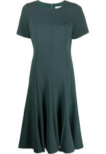 Calvin Klein Vestido Midi De Crepe - Verde