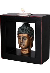 Porta-Vela Quadrado - Cabeça De Buda