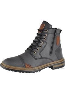 Bota Coturno Masculina Attrative Boots Cinza
