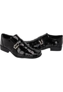 Sapato Leoppé Verniz Masculino - Masculino-Preto