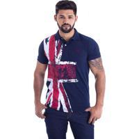 Camisa Polo Live England Azul Marinho 427-03 - G 7f29b1e6d1897