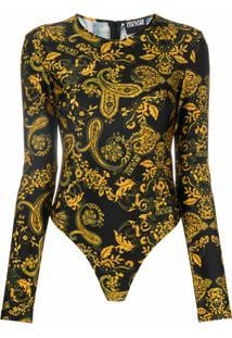 Versace Jeans Couture Body Com Estampa Paisley - Preto