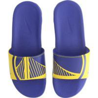 c6185649e4f34 Chinelo Nike Nba Benassi Solarsoft - Slide - Masculino - Azul/Amarelo