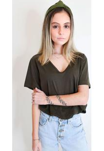 T-Shirt Feminina Verônica Verde Musgo