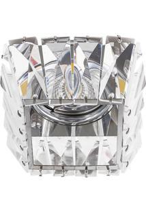 Spot Embutir G4 Quadrado Cristal 40W Cromado Bella Iluminação Bivolt