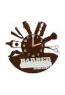 Relógio De Parede Decorativo - Modelo Barber Shop