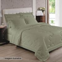 876b802521 Jogo De Cama Cristal Com Renda Renascença Casal- Verde