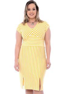 Vestido Amarelo Plus Size