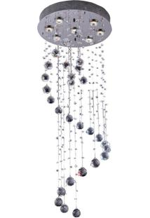 Plafon Llum Crystal Spiral 1,7 Metros Gu10 Bivolt Transparente