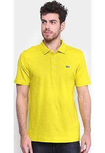Camisa Polo Lacoste Super Light Masculina - Masculino-Bege