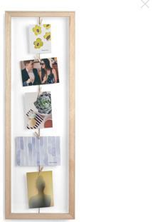 Porta Retrato Clothesline Madeira Umbra