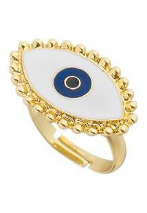 Anel Dourado Com Olho Branco.