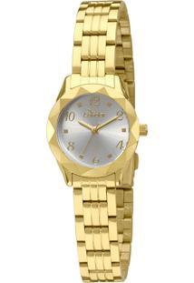 Okulos. Relógio Analógico Feminino Unissex Condor Co2035kpb 4k Ouro c35b0908eb