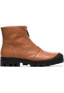 Loewe Ankle Boot Com Zíper - Marrom