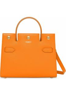 Burberry Bolsa Tote Title Mini - Orange