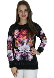 Blusão Colcci Manga Longa Floral Feminino - Feminino