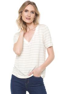 Camiseta Lez A Lez Listras Off-White